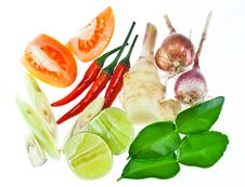 Free Tom Yum Ingredient Royalty Free Stock Images - 25314989