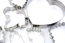 Free Various Metal Cookie Cutters Stock Images - 25318534