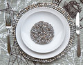 Free Table Place Setting With Beaded Mats Stock Photography - 25320432