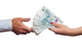 Free Russian Money Transfer From Hand To Hand. Royalty Free Stock Photography - 25327257