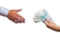 Free Russian Money Transfer From Hand To Hand. Stock Photo - 25327400