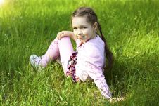 Free Little Cute Girl In Park Royalty Free Stock Photo - 25320185