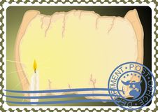 Free Postage Stamp. Paper And A Candle Royalty Free Stock Photos - 25321838