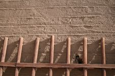 Free Rammed Earth Wall Ancient Village Dunhuang, China Stock Photos - 25323693