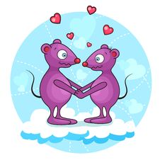Free Valentine Mouse Stock Photography - 25325812
