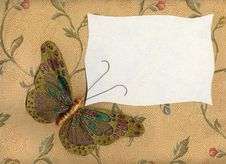 Free Butterfly Fabric On Textiles 1 Stock Image - 25326761