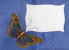 Free Butterfly Fabric On Textiles 2 Stock Photography - 25326872