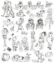 Free Summer Beach Doodles Royalty Free Stock Image - 25334446