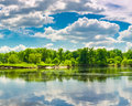 Free Clouds Reflection On Lake. Stock Images - 25334714