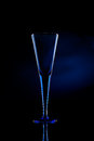 Free Blue Champagne Flute Glass Stock Photos - 25339923
