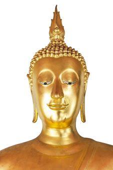 Free Golden Buddha Head Royalty Free Stock Photo - 25333875