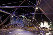 Helix Bridge Royalty Free Stock Photography