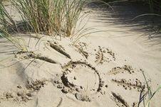 Sun On Sand Royalty Free Stock Photo