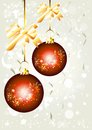 Free Elegant Christmas Background With Baubles Royalty Free Stock Photos - 25340748