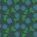 Free Blue Flowers Pattern Royalty Free Stock Photo - 25344285