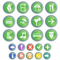 Free Buttons Set Royalty Free Stock Photo - 25344395