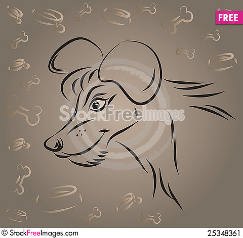 Free The Dog Drawn By Strokes Stock Image - 25348361
