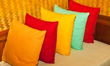 Free Multi-colored Pillows. Stock Images - 25340364