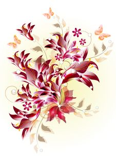 Floral Pattern Design Royalty Free Stock Images