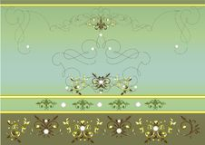 Vintage Vector Background With Ornament Royalty Free Stock Photos