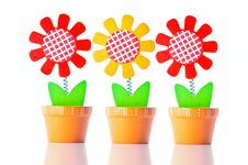 Free 3 Wooden Flower Wallpaper Royalty Free Stock Images - 25340899