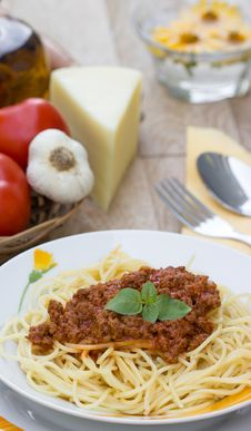 Free Spaghetti Bolognese Stock Photography - 25341822