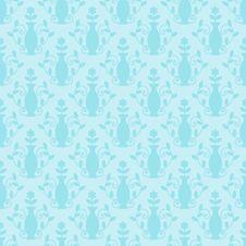 Blue Damask Pattern Royalty Free Stock Photos