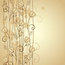 Free Decorative Flowers Royalty Free Stock Images - 25347419