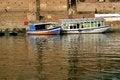Free Boats In Gangas River Bank, Ghats, Varanasi India Stock Images - 25355904
