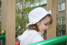 Free Beautiful Little Girl At Playground Royalty Free Stock Images - 25351019