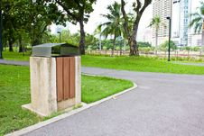 Free Public Rubbish Bin In A Park Stock Images - 25353594