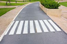 Free Crosswalk In The Garden Royalty Free Stock Photos - 25353938