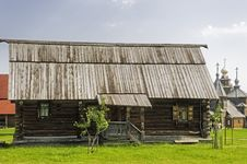 Free A One-storey Wooden House With A Porch. Russia. Royalty Free Stock Image - 25357406
