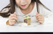 Free Girl Eating Cake Stock Photography - 25358802