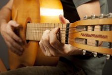Free Hands Playing Guitar Stock Photo - 25358940