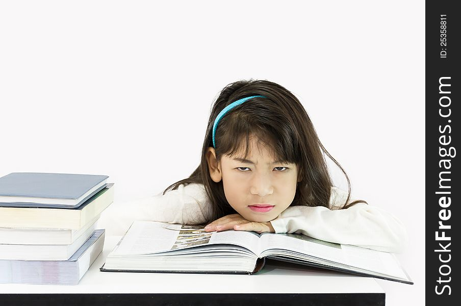 Girls get tired of studying
