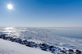Free Sunny View Across Frozen Lake Royalty Free Stock Photography - 25363097