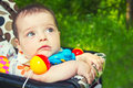 Free Child In A Baby Carriage Stock Photography - 25364462