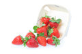 Free Sprinkled Strawberry From The Basket. Royalty Free Stock Photo - 25367075