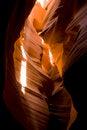 Free Sunlight Antelope Slot Canyon Desert Geology Stock Photography - 25369382