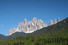 Geisler Range Mountains Stock Photos