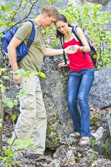 Free The Couple In The Hike Royalty Free Stock Photography - 25364357