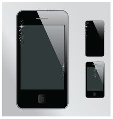 Free Realistic Mobile Phone With Blank Screen Stock Images - 25365014