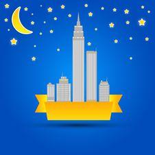 Free City At Night. Illustration Stock Photo - 25365020
