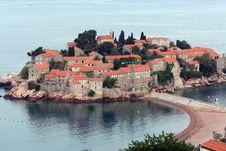 Free Sveti Stefan Island In Montenegro Stock Photos - 25366033