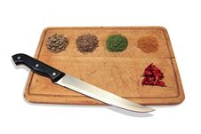 Free Mix Spices On Cutting Board Stock Photography - 25374092