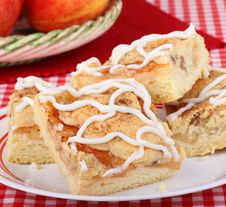 Free Plate Of Apple Bars Royalty Free Stock Photos - 25375488