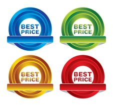 Free Pack Of Price Badges Stock Photos - 25378143