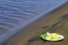 Free Lime Wedges Royalty Free Stock Photos - 25378368