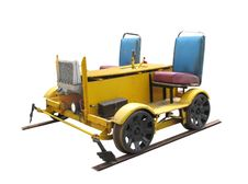 Free Railroad  Motorized Worker's Track Cart Isolated Royalty Free Stock Photography - 25379697